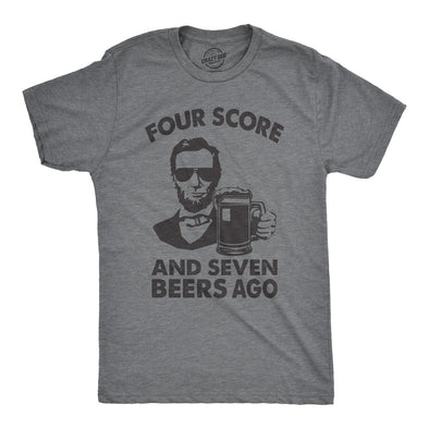 Four Score And Seven Beers Ago Men's Tshirt