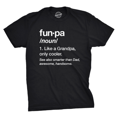Mens Funpa Definition T shirt Funny Grandpa Gift Fathers Day Papa Graphic Tee