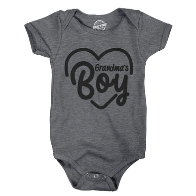 Creeper Grandmas Boy Baby Bodysuit For Newborn Grandson