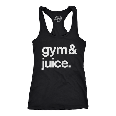 Womens Tank Gym And Juice Tanktop Funny Sarcastic Fitness Workout Alcohol Rap Lyric Shirt