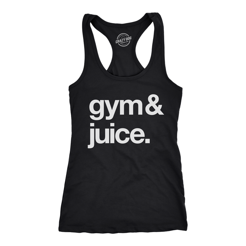 Womens Gym And Juice Tshirt Funny Sarcastic Fitness Workout Alcohol Rap Lyric Tee