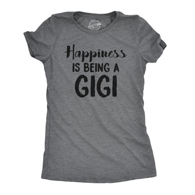 Womens Happiness Is Being A Gigi T shirt Cute Gift for Grandma Funny Grandmother