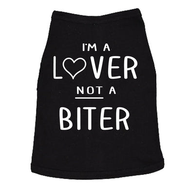Dog Shirt Im A Lover Not A Biter Funny Clothes For Small Breed Daschund Corgi