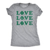 Womens Love Shamrock T Shirt Cute Four Leaf Clover Saint Patricks Day Patty Tee