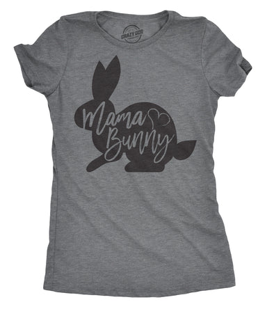Womens Mama Bunny T Shirt Cute Adorable Easter Gift Faith Tee For Ladies