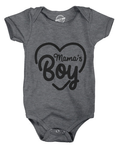 Creeper Mamas Boy Cute Funny Sarcastic Shower Baby Shirt Gift For Newborn Son