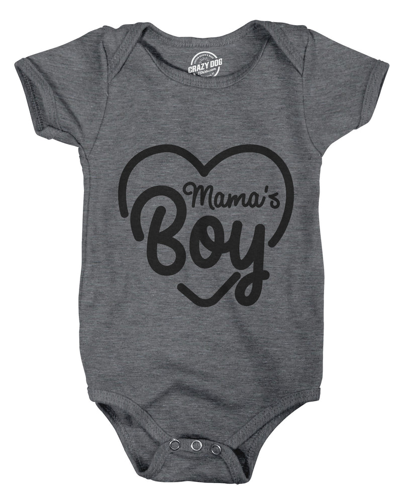 Creeper Mamas Boy Cute Funny Baby Bodysuit For Newborn Son