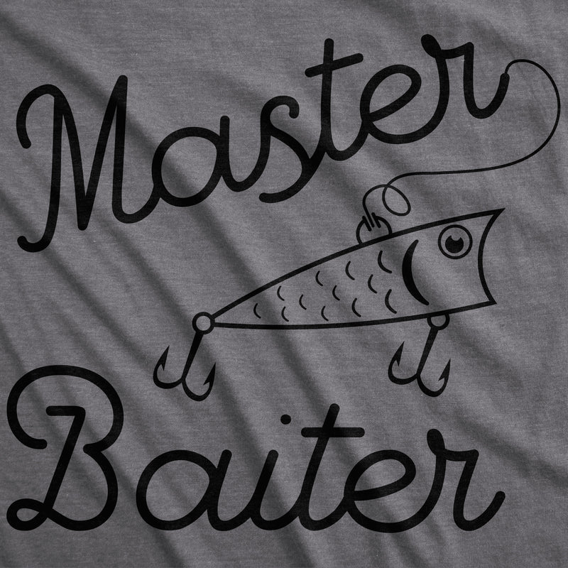 Womens Master Baiter Tshirt Funny Outdoor Fishing Tee For Ladies