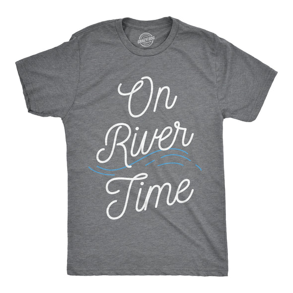 On River Time Men's Tshirt