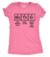 Womens Mother Periodic Table T shirt Funny Novelty Graphic Mothers Day Tee Nerdy