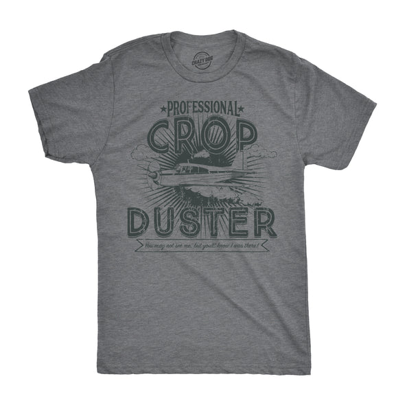 Mens Professional Crop Duster Tshirt Funny Farting Tee For Guys
