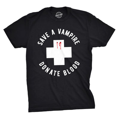 Save A Vampire Donate Blood Men's Tshirt