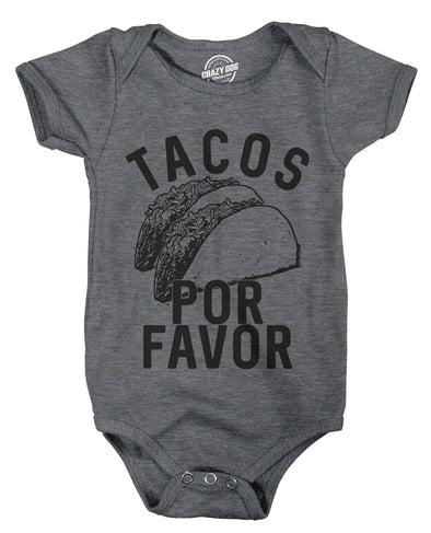 Creeper Tacos Por Favor Funny Shower Gift for Newborn Baby Shirt Toddler