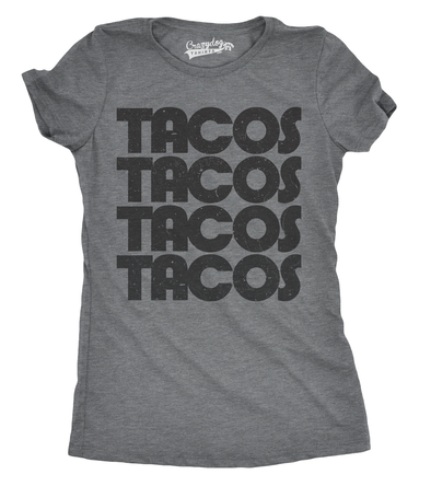 Womens Tacos Tacos Tacos Tshirt Funny Retro Cinco De Mayo Tee For Ladies