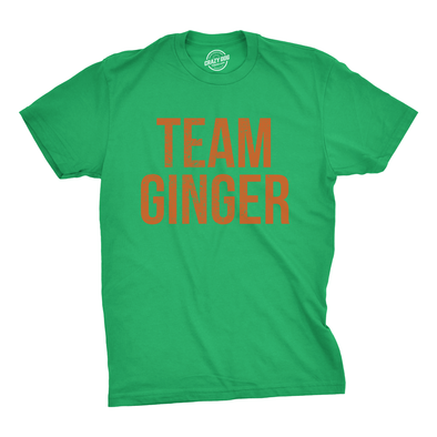 Mens Team Ginger Tshirt Funny Red Head St Patricks Day Irish Tee For Guys