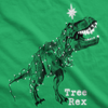 Womens Tree Rex Tshirt Funny Christmas T-Rex Dinosaur Tee For Ladies