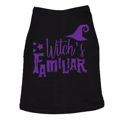 Dog Shirt Witch's Familiar Tshirt Funny Halloween Dog Clothes For Family Pet