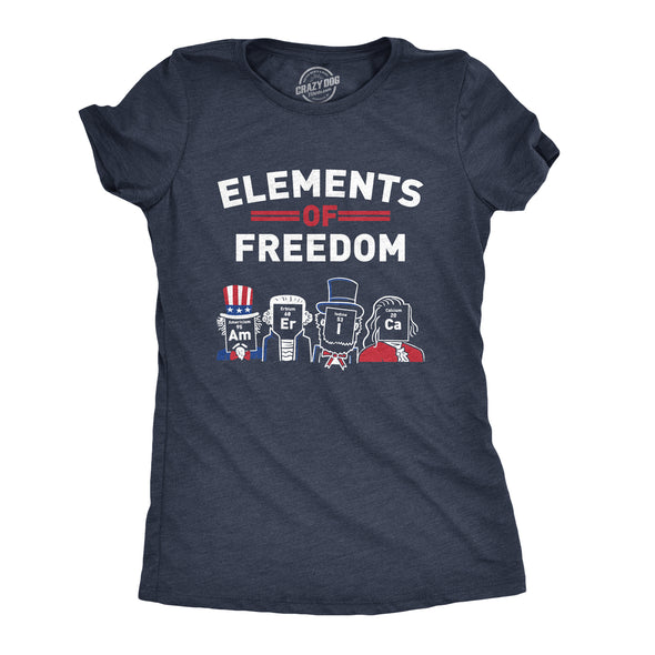 Womens The Element Of Freedom T-Shirt America 4th Of July Tee