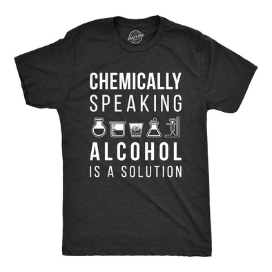 Alcohol Is A Solution Men's Tshirt