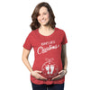 Baby's First Christmas Ornament Maternity Tshirt