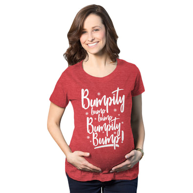 Maternity Bumpity Bump Bump Pregnancy T shirt Funny Christmas Baby Announcement