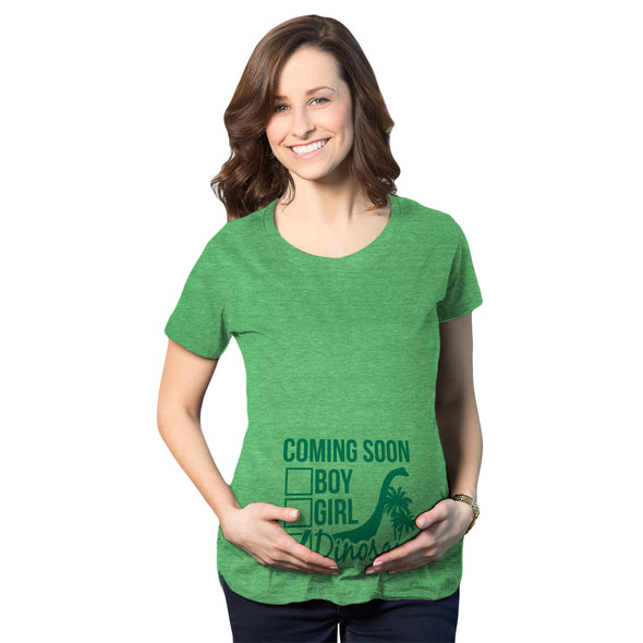 Maternity Coming Soon: Dinosaur Pregnancy Tshirt Funny Jurassic Tee For Belly Bump