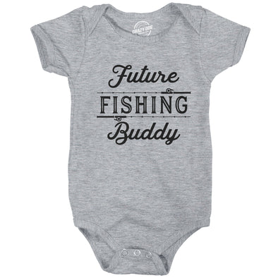 Creeper Future Fishing Buddy Baby Bodysuit Funny Outdoor Sport Shirt