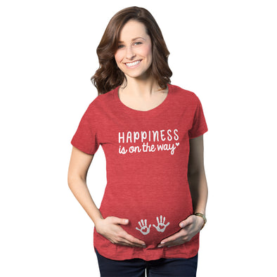 Happiness Is On The Way Maternity Tshirt