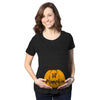 Maternity Lil Pumpkin Pregnancy Fall Baby Halloween Cute T-Shirt