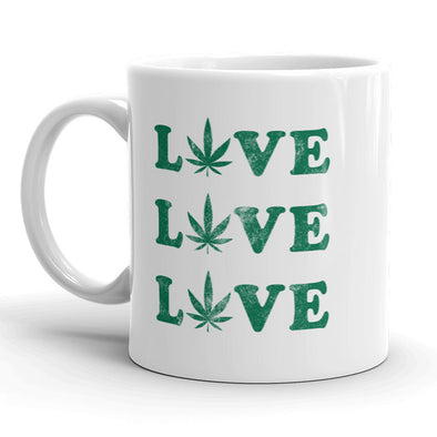 Love Pot Leaf 3x Mug Funny Marijuana 420 Coffee Cup - 11oz