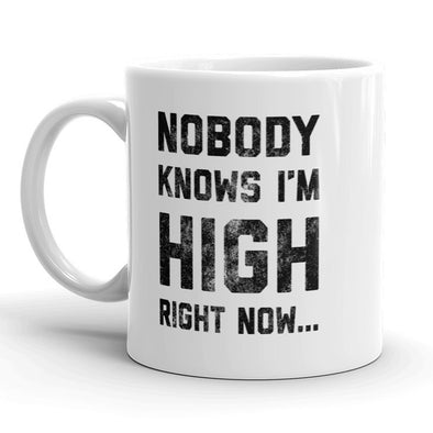Nobody Knows Im High Right Now Mug Funny 420 Coffee Cup - 11oz