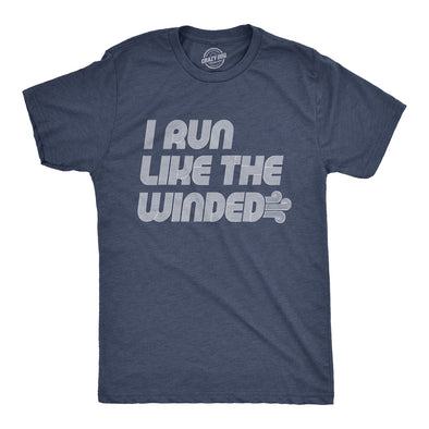 Mens I Run Like The Winded Tshirt Funny Jogging Fitness Tee