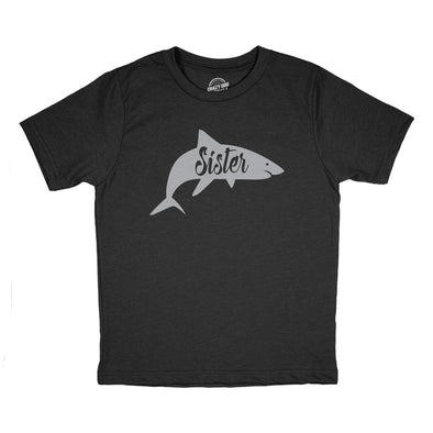 Youth Sister Shark Tshirt Funny Beach Summer Vacation Family Tee For Kids