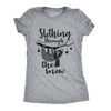 Womens Slothing Through The Snow Tshirt Funny Christmas Carol Sloth Tee