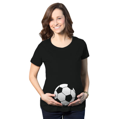 Maternity Soccer Ball Pregnancy Tshirt Cute Soccer Mom Sports Tee For Mom To Be