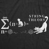 Womens String Theory Tshirt Funny Cat Math Science Nerdy Tee