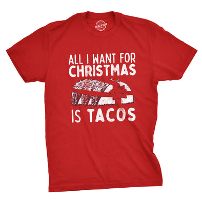 All I Want For Christmas Is Tacos Men's Tshirt