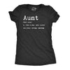 Womens Aunt Definition T shirt Funny Family Sister Gift for Auntie Graphic Tee