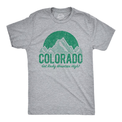 Colorado Get Rocky Mountain High Men's Tshirt