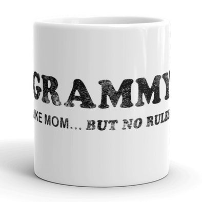 Grammy Like Mom But No Rules Mug Funny Grandmother Coffee Cup - 11oz