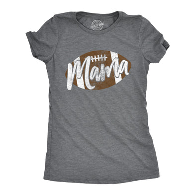 Womens Football Mama Tshirt Cute Pee Wee League Mom Tee