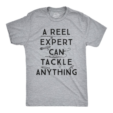 A Reel Expert Can Tackle Anything Men's Tshirt