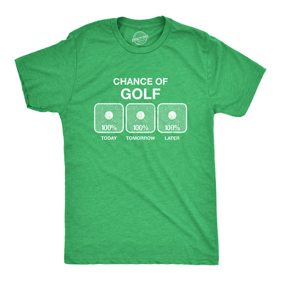 100% Chance Of Golf Men's Tshirt