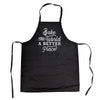 Bake The World A Better Place Cookout Apron  Funny Novelty Kitchen Smock