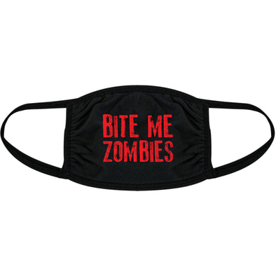 Bite Me Zombies Face Mask Funny Undead Halloween Novelty Nose And Mouth Covering