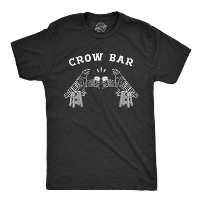 Mens Crow Bar Tshirt Funny Bird Party Drinking Tee Toolbox Graphic Novelty Tee