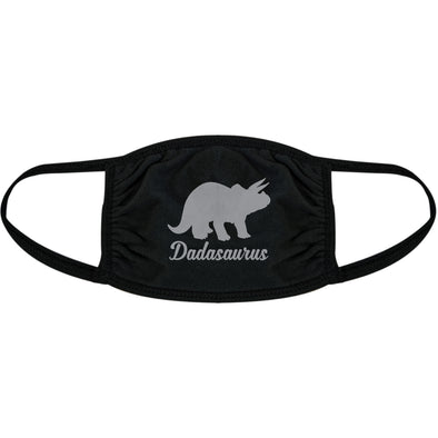 Dadasaurus Face Mask Funny Dinosaur Triceratops Fathers Day Nose And Mouth Covering