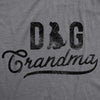 Womens Dog Grandma Tshirt Cute Pet Puppy Animal Lover Graphic Tee For Grandfather
