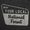 Womens Enjoy Your National Forest Funny Outdoor Vintage Camping Mountains T shirt