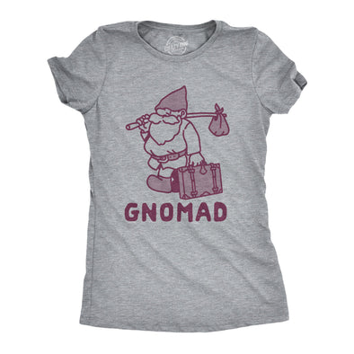 Womens Gnomad Tshirt Funny Nomad Traveller Gnome Fairytale Graphic Tee